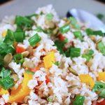 Fiesta de verduras con arroz
