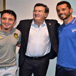 Tres de los mejores representantes del fútbol uruguayo